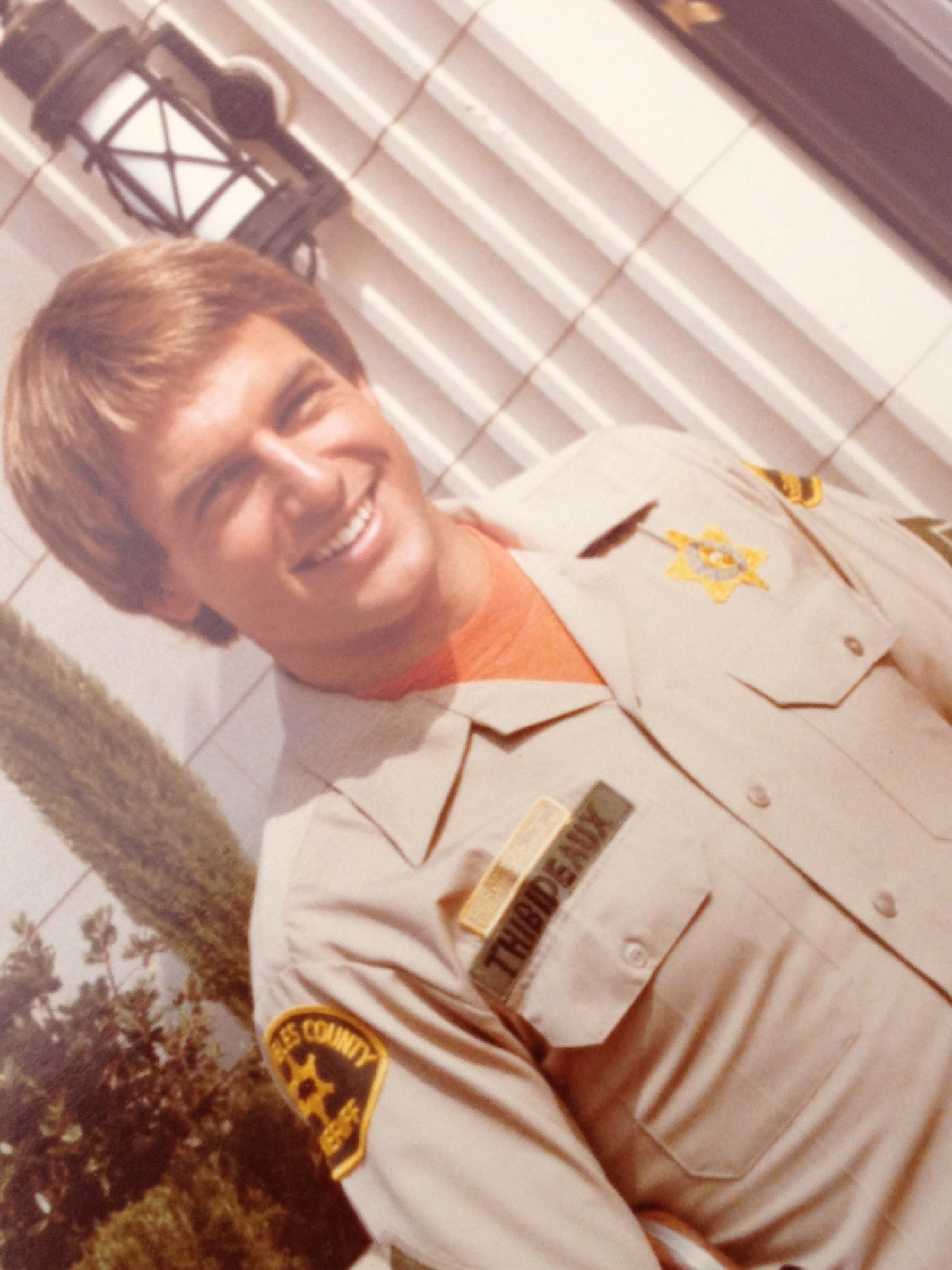 Photograph of Mark Harmon on the Television film set of 240-Robert in Los Angeles California in the early